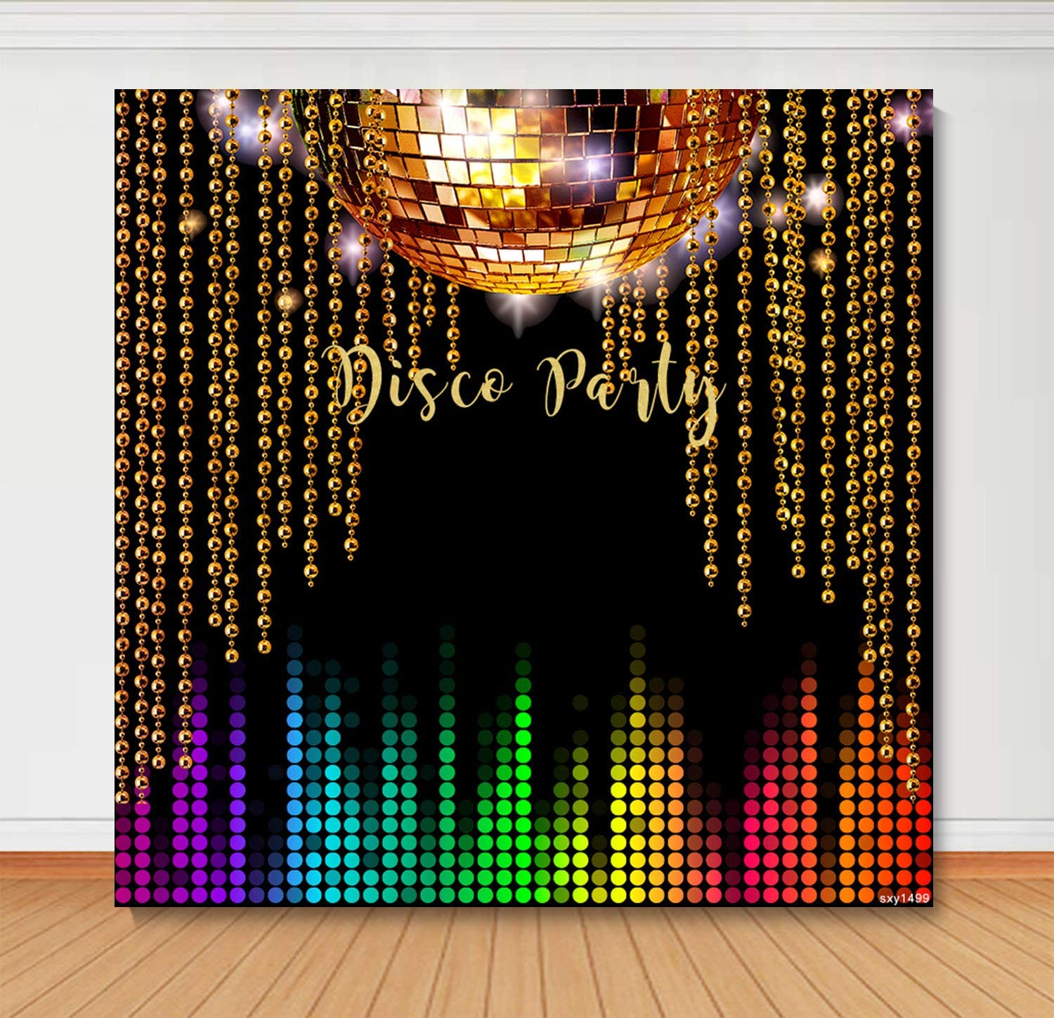 Sensfun Vintage 70s 80s Disco Party Backdrop Colorful Shiny Neon Night Lets Glow Crazy in the Dark Dance Photography Background Adults Birthday Decoration Banner Photo Booth Props 6x6ft Vinyl
