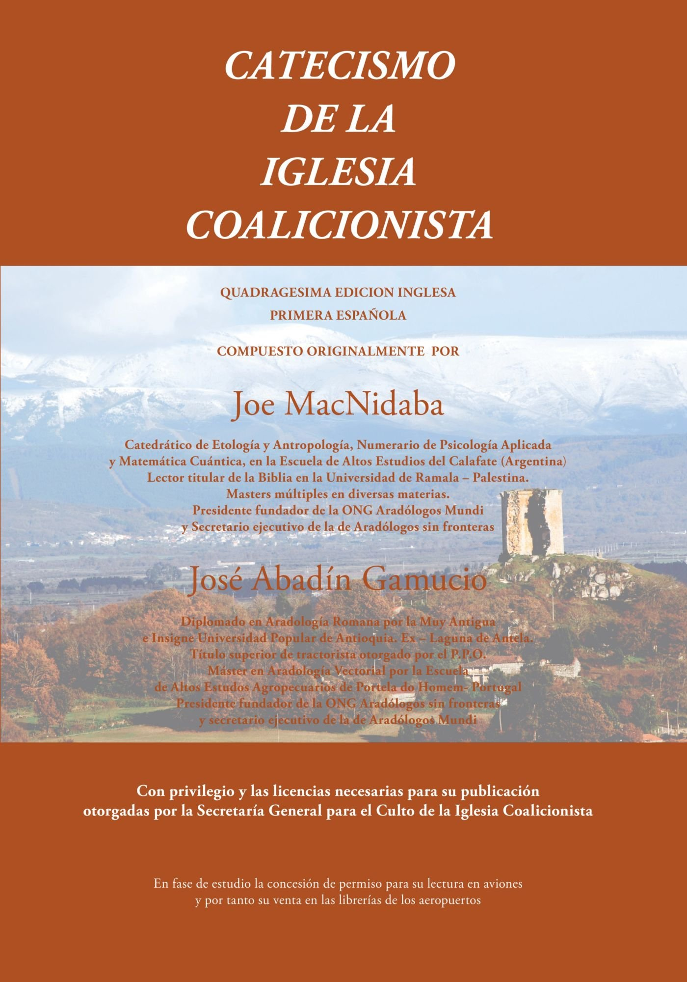 Catecismo de la Iglesia Coalicionista (Spanish Edition): Joe MacNidaba: 9781425114411: Amazon.com: Books