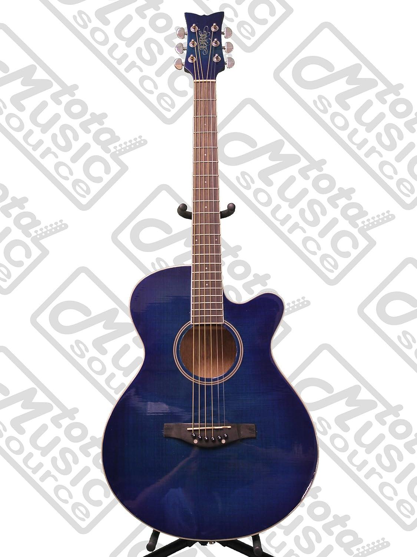 Daisy Rock Sophomore guitarra acústica, llama parte superior ...