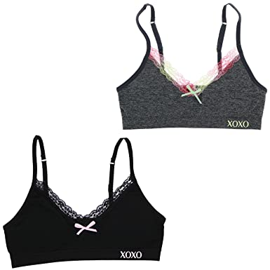 5ce99383645ea Amazon.com  XOXO Girl Training Bra Set with Removable Pads