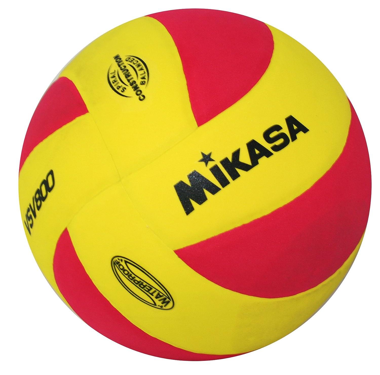 Mikasa 1169 VSV 800 - Pelota de voleibol, color amarillo y rojo