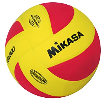 Mikasa 1169 VSV 800 - Pelota de Voleibol, Color Amarillo y Rojo ...