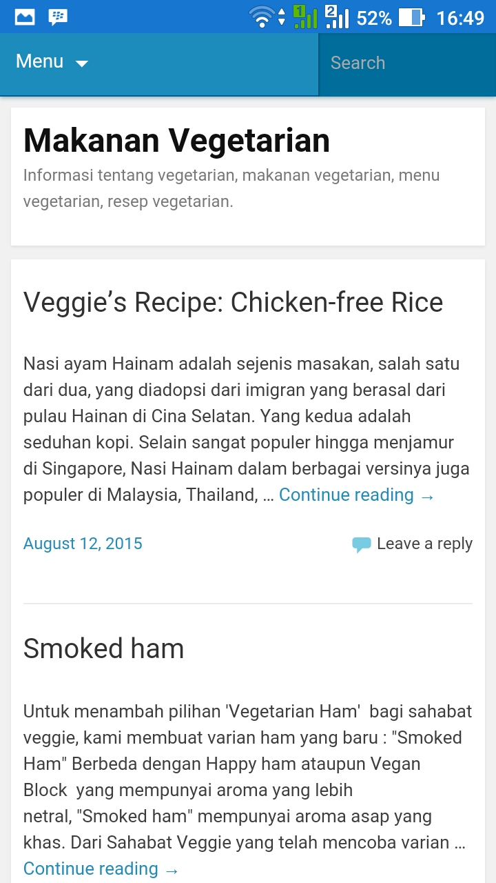 Amazon Com Resep Masakan Vegetarian Appstore For Android