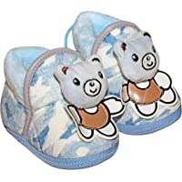 Baby Station Booties Winter Warm Girl Boys Shoes First Walker Training Shoes Teddy Bear Face M