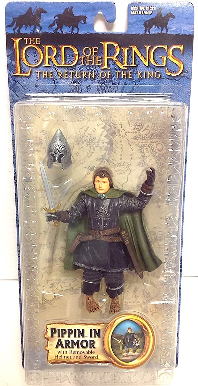 Lord of the Rings Trilogy ROTK  Action Figure Pippin in Armor Toy Biz