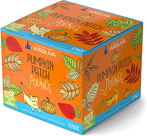 Weruva Classic Cat Food, Pumpkin Patch Pounce Variety Pack, 3oz Can Pack of 12