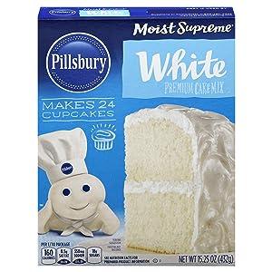 Pillsbury Moist Supreme White Premium Cake Mix, 15.25-Ounce (Pack of 12)