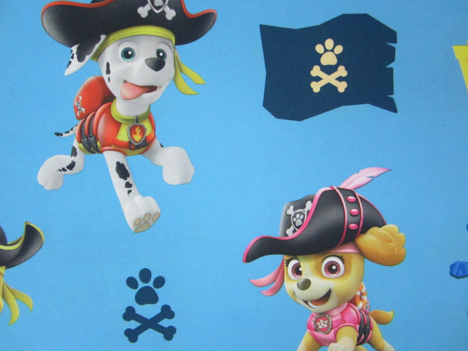 Paw Patrol Ahoy Me Pups 100% Polyester (FLAT SHEET ONLY) Size TWIN Boys Girls Kids Bedding