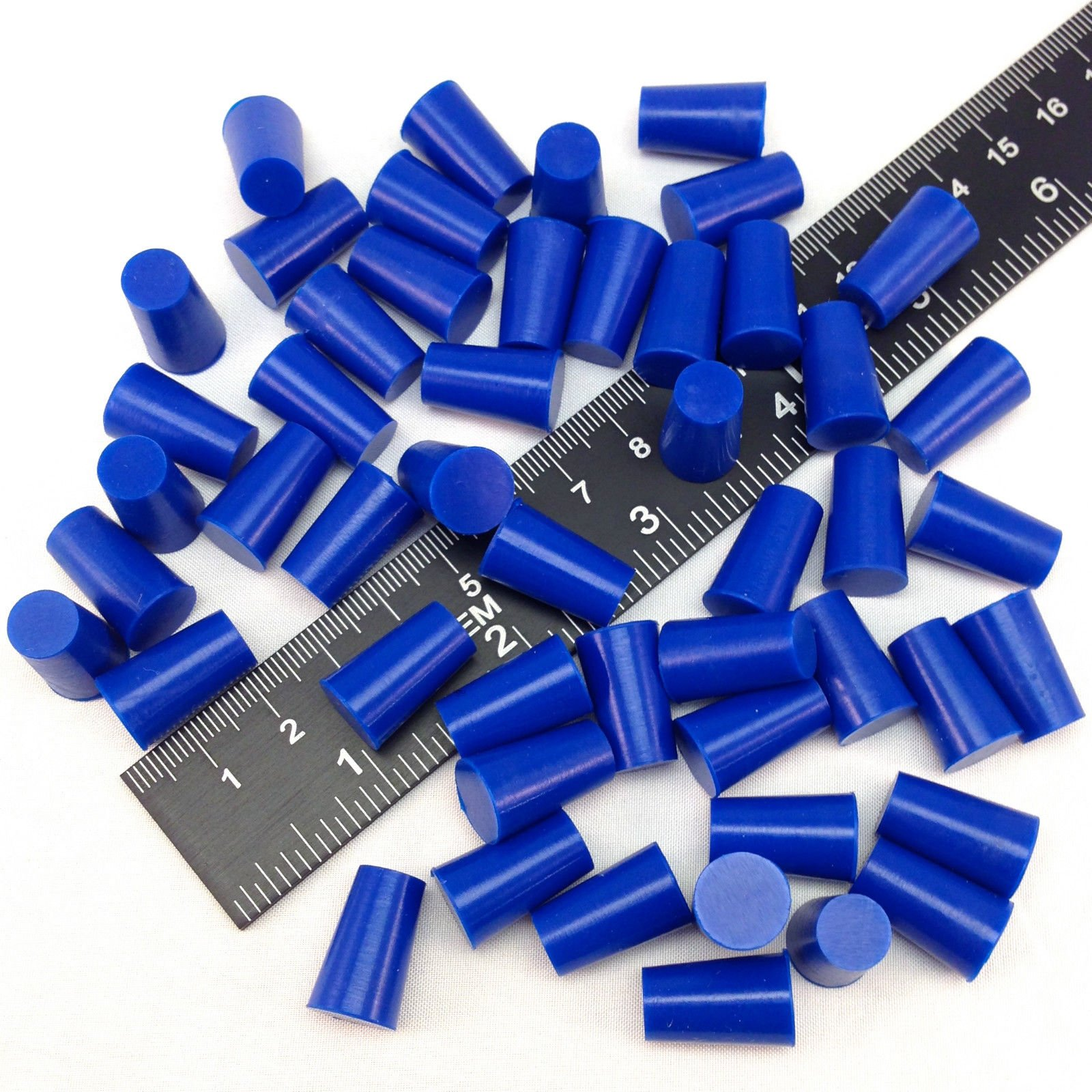 """(50) 11/32"""" X 7/16"""" High Temp Silicone Rubber Tapered Stopper Plugs for Powder Coating Custom Painting Masking Supplies"""