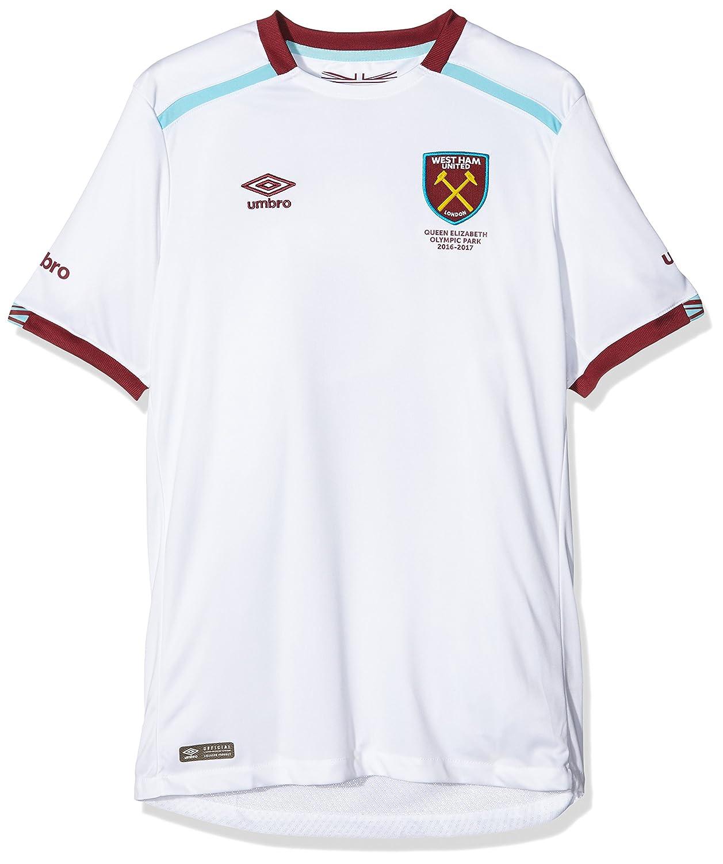 Umbro Boy 's West Ham Away Short Sleeve Replica Jersey