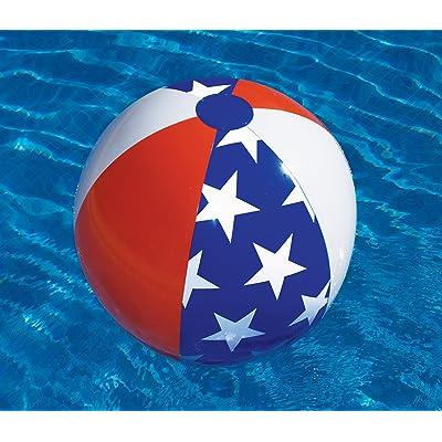 """Swimline 90016SL 24\"""" Americana Beach Ball: Home & Kitchen [5Bkhe0501556]"""