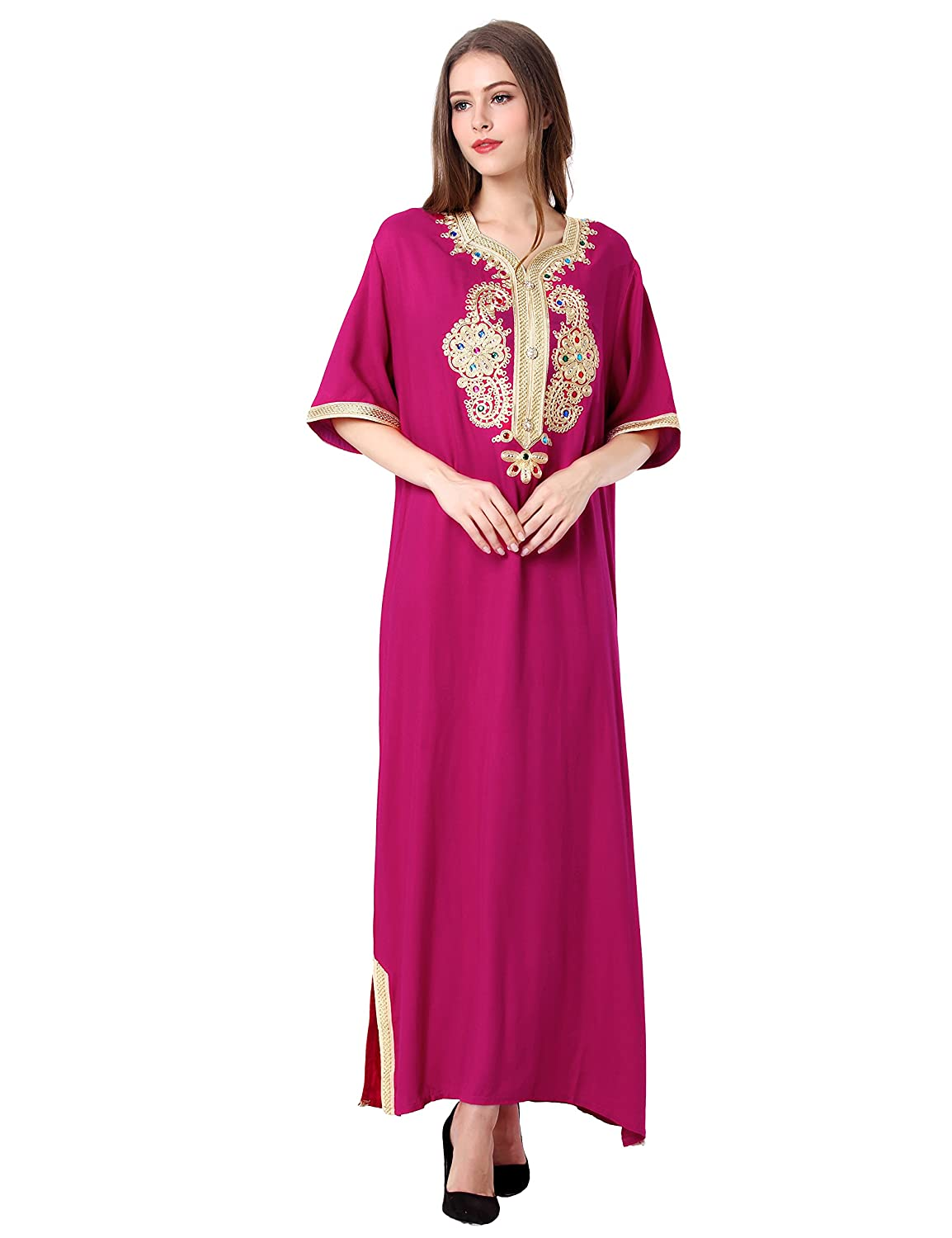 Baya Muslim Abaya Caftan Dubai Dress Women Islamic Clothing Rayon Gown Jalabiyas