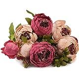 FiveSeasonStuff Grande Bouquet di di Seta Peony e Ortensie Artificiale Fiori Stile Europeo, Ideale per Matrimoni, Sposa, Partito, Casa, Studio Décor Fai da te (51cm (Rosa Misti)