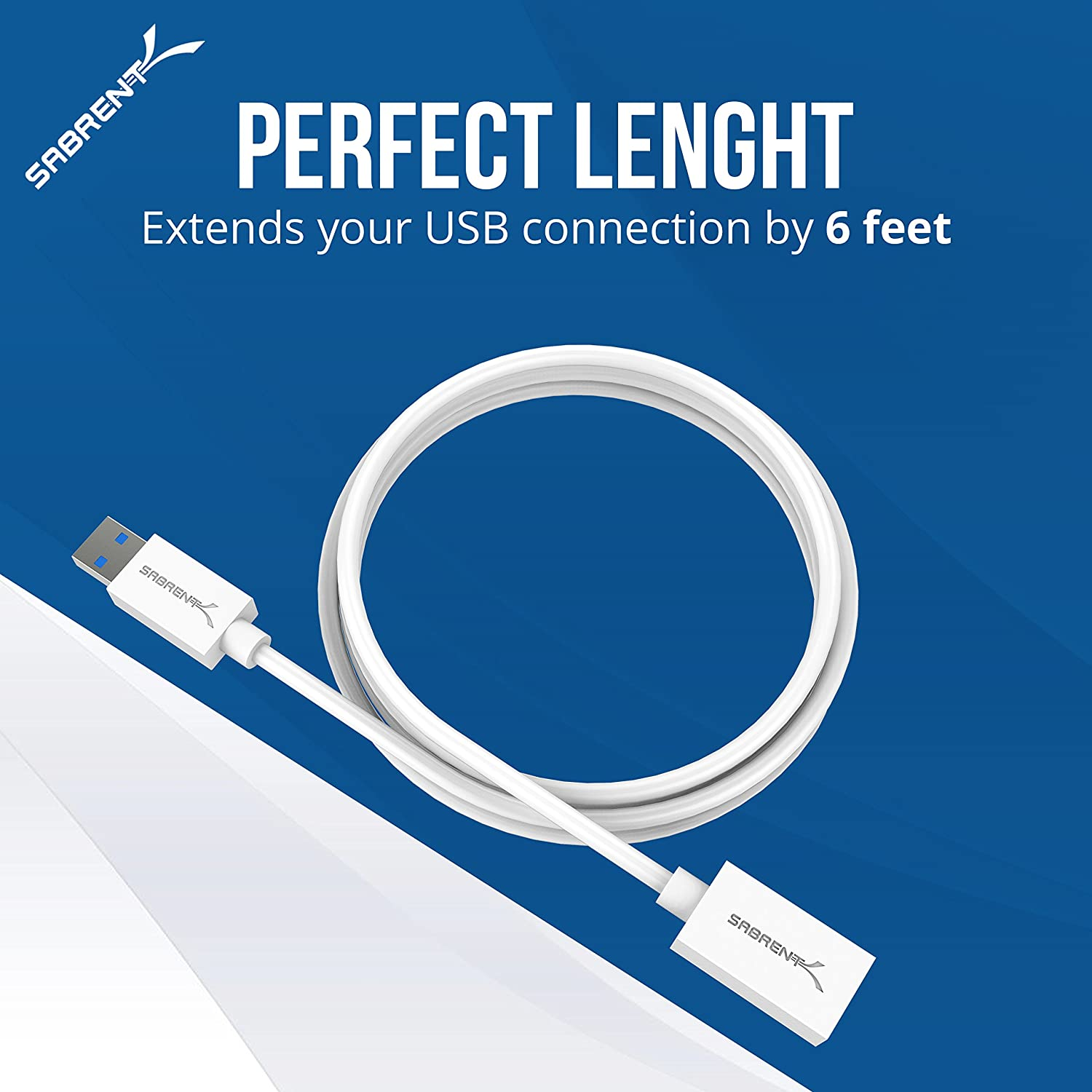 Sabrent 22awg Usb 30 Extension Cable A Male To Cabling Technology Discover What Is C2g Female White 6 Feet Cb 306w Computers Accessories