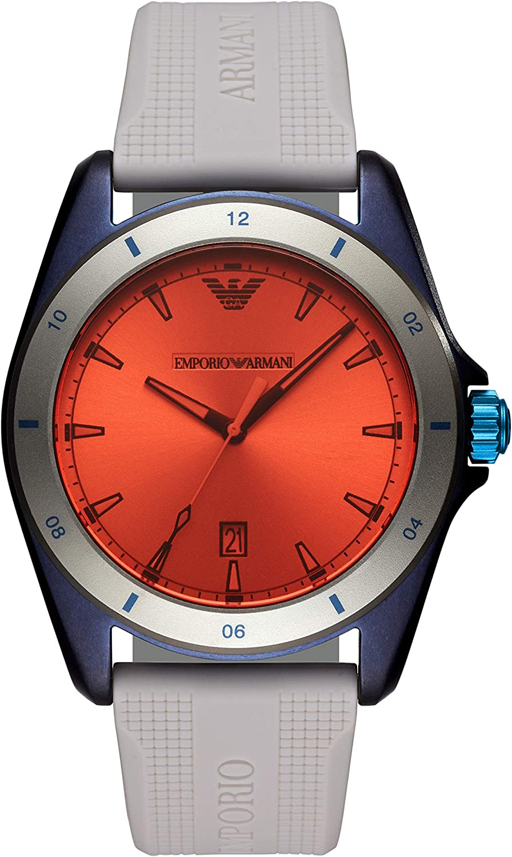 Emporio Armani Reloj Analógico para Hombre de Cuarzo con Correa en Silicona AR11218