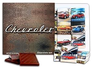 DA CHOCOLATE Candy Souvenir CHEVROLET Chocolate Gift Set 5x5in 1 box (Vintage 0621)