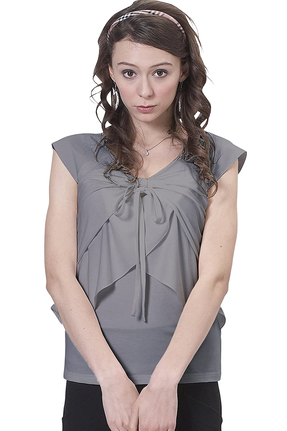 Sweet Mommy Maternity and Nursing Halter Neck Tiered Ruffle Top Sweet Mommy Co. Ltd. st0090
