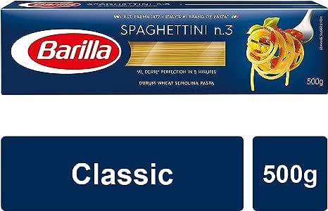 Barilla Spaghettini No.3, 25 x 500g