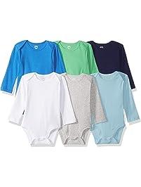 Amazon Essentials Baby Boys 6-Pack Long-Sleeve Bodysuit