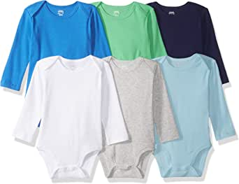 Amazon Essentials 6-Pack Long-Sleeve Bodysuit Unisex bebé