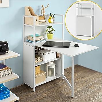 sobuy armario pared mesa plegable libros estantera armario con escritorio plegable