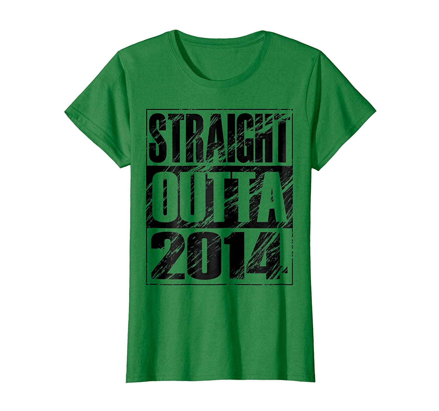Funny Straight Outta 2014 4th Birthday T shirt Vintage Gift-Bawle