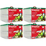 "Snap 'N Stack Seasonal Home Storage 13""x 13"" Square Ornament Box (4-Pack)"