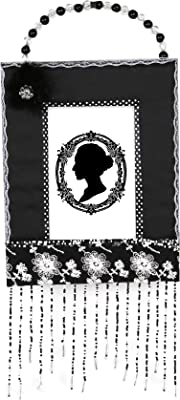 Truu Design, Beaded Handle and Tassel Picture Frame, 4 x 6 inches, Black