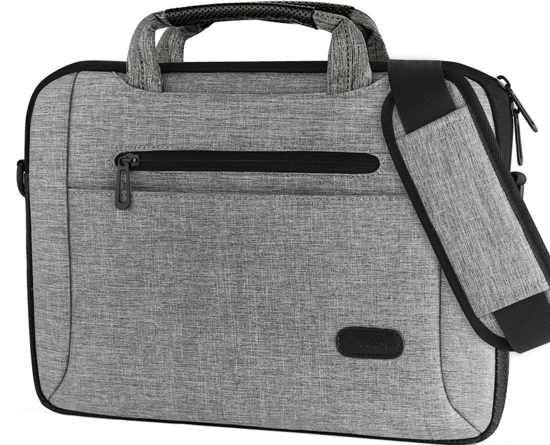 ProCase 11-12 Inch Laptop Bag Messenger Shoulder Bag Briefcase Sleeve Case for 12'' Macbook Surface Pro 2017/Pro 4 3, 11 12 Inch Laptop Ultrabook Tablet Notebook MacBook Chromebook Computer -Grey