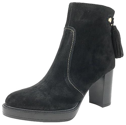 ALPE Team Botines 31105 negros, botines, piel de ante, Redonda, Otoño/Invierno: Amazon.es: Zapatos y complementos