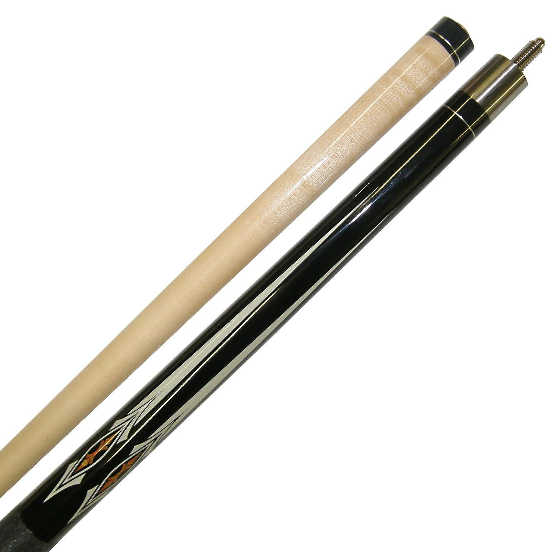 58 2 Piece Hardwood Canadian Maple Pool Cue Billiard Stick W Irish Wrap Choose 18-21 Oz Several Styles to Choose from Black 19-Ounce Iszy Billiards BND-03-19