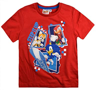 Boys Sonic The Hedgehog T Shirt Kids Tee Short Sleeve Top New