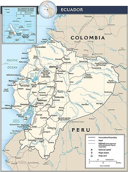 Map Poster - Ecuador Transportation Map 18&quot ...