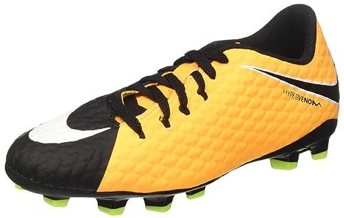 quality design 5af86 affc1 Nike Hypervenom Phelon III FG, Scarpe da Calcio Unisex-Bambini, Arancione  (Laser