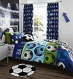 Catherine Lansfield Parure de lit pour enfant Motif football, bleu, Simple