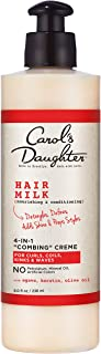 product image for Curly Hair Products by Carol's Daughter, Hair Milk 4-in-1 Combing Creme For Curls, Coils and Waves, with Agave and Olive Oil, Hair Detangler, Curl Cream, 8 Fl Oz (Packaging May Vary)