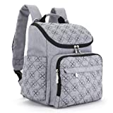 Amazon Price History for:Diaper Bag Backpack With Baby Stroller Straps By HYBLOM, Stylish Travel Designer And Organizer For Women & Men, 12 Pockets, Grey