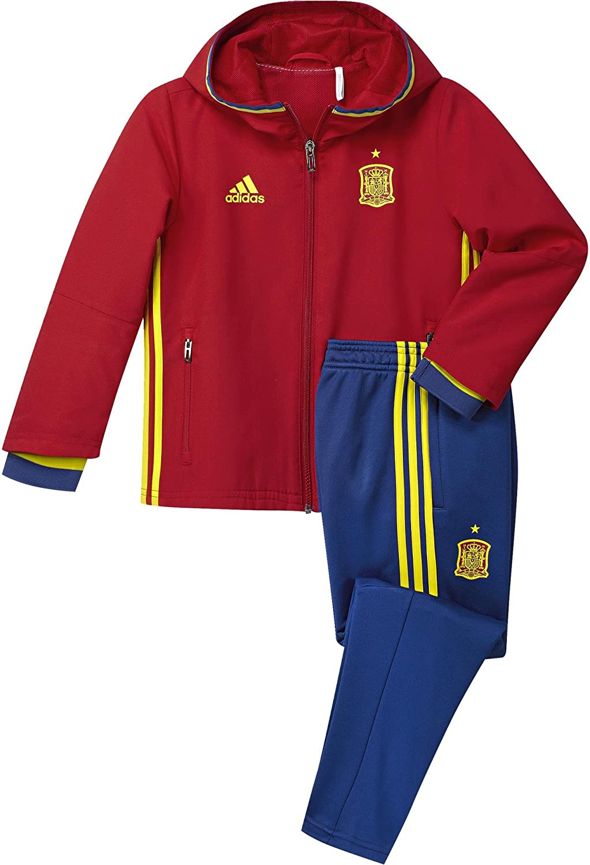adidas Federación Española de fútbol Euro 2016 - Chándal de presentación para niño, Color Rojo/Amarillo/Azul, Talla 92: Amazon.es: Zapatos y complementos