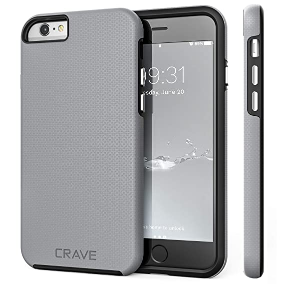best sneakers 3c6b6 5ebde iPhone 6 Case, iPhone 6S Case, Crave Dual Guard Protection Series Case for  iPhone 6 6s (4.7 Inch) - Slate