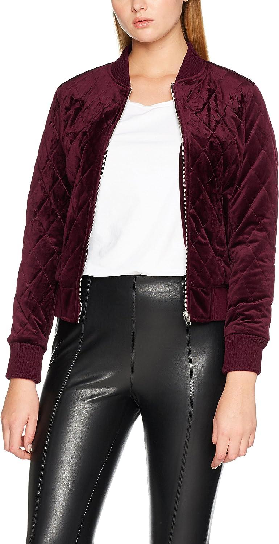 Urban Classics Ladies Diamond Quilt Velvet Jacket Blouson Femme