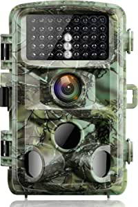 """【2020 Upgrade】 Campark Trail Game Camera 16MP 1080P Night Vision Waterproof Hunting Scouting Cam for Wildlife Monitoring with 120°Detecting Range Motion Activated 2.4"""" LCD IR LEDs 3 PIR"""