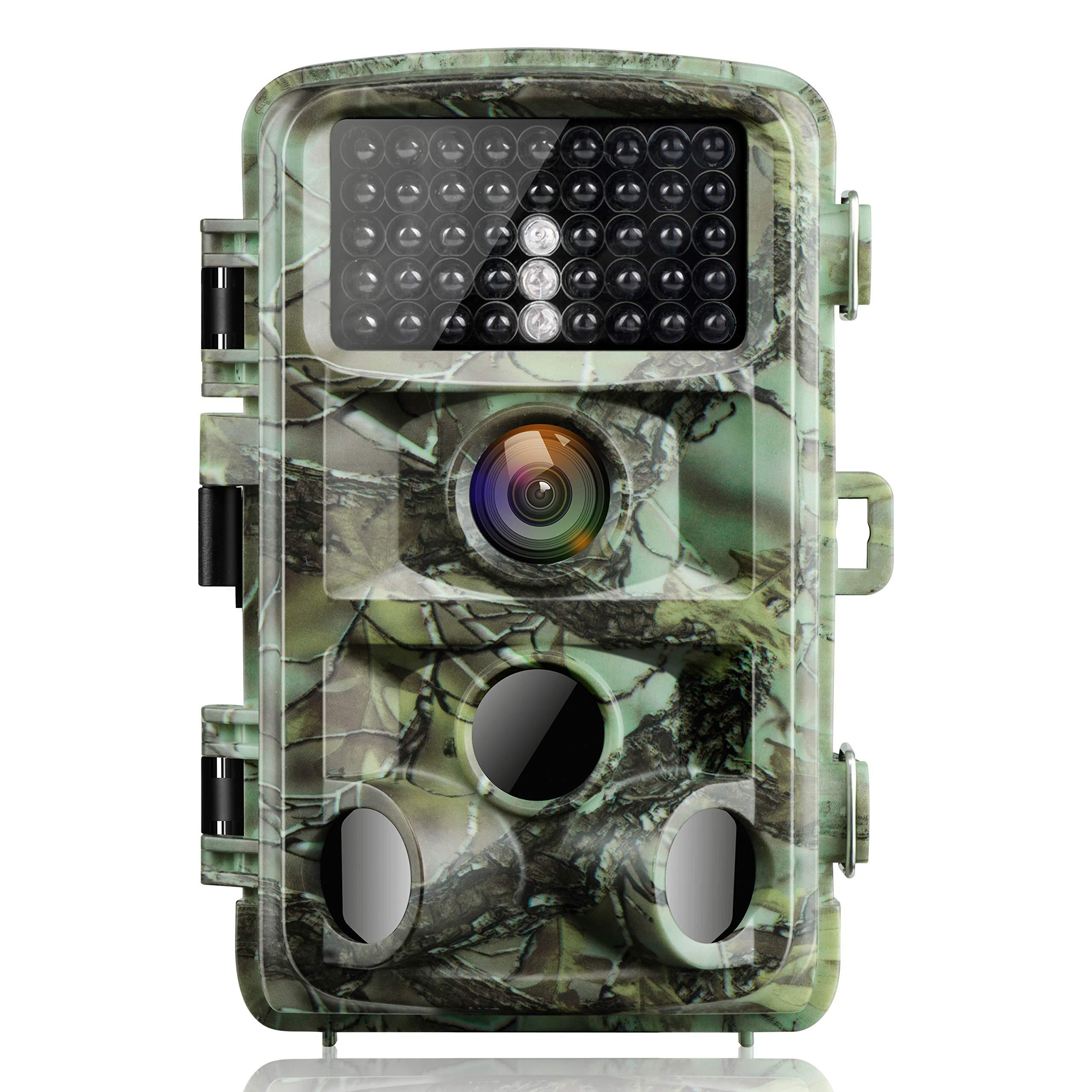 Campark Cámara de Caza 14MP 1080P IP56 Impermeable Trail Cámara con 3 PIR Sensor Gran Angular