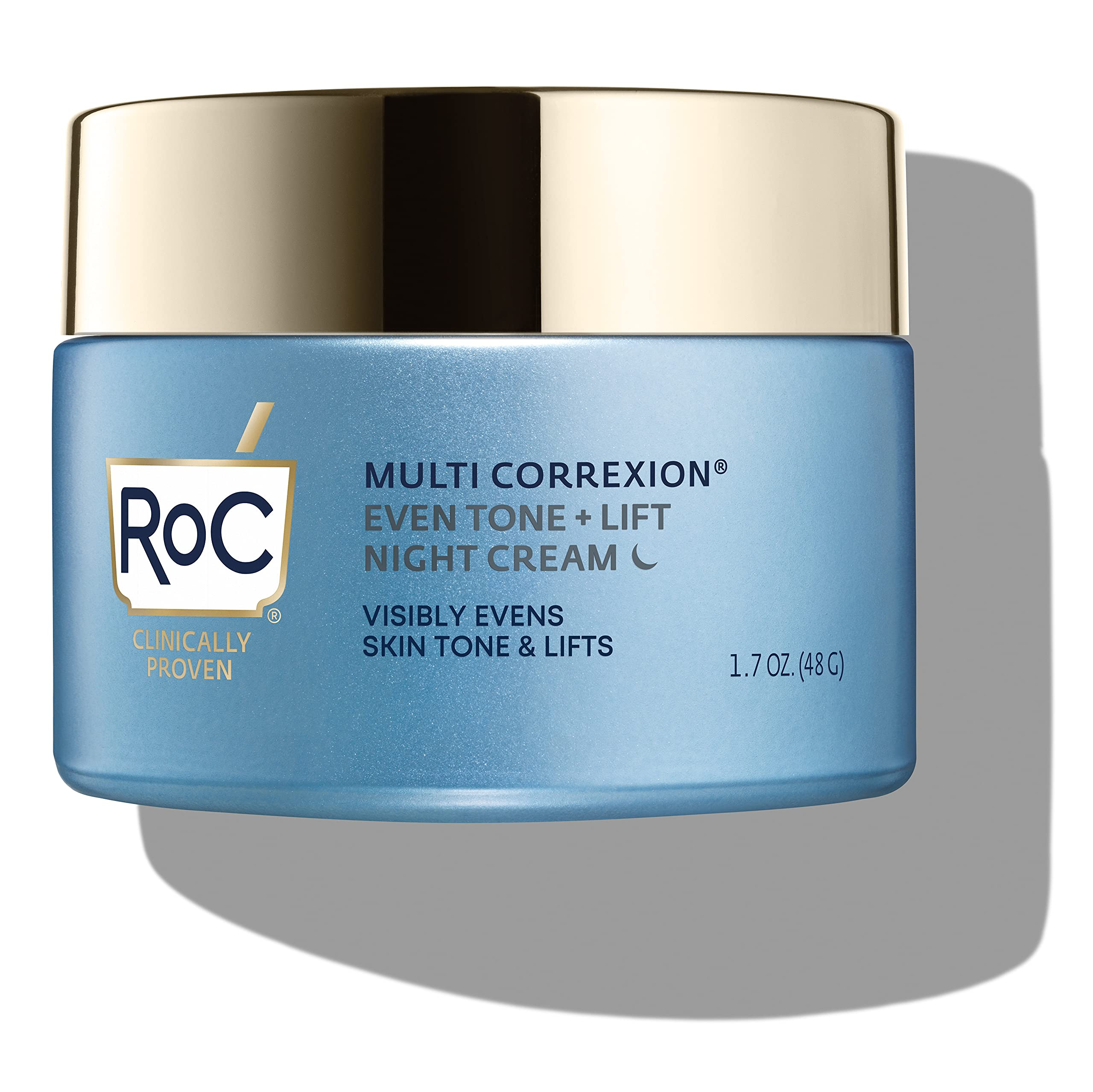 RoC Multi Correxion 5 in 1 Restoring/Anti Aging Facial Night Cream with Hexinol, 1.7 Oz (Packaging May Vary)