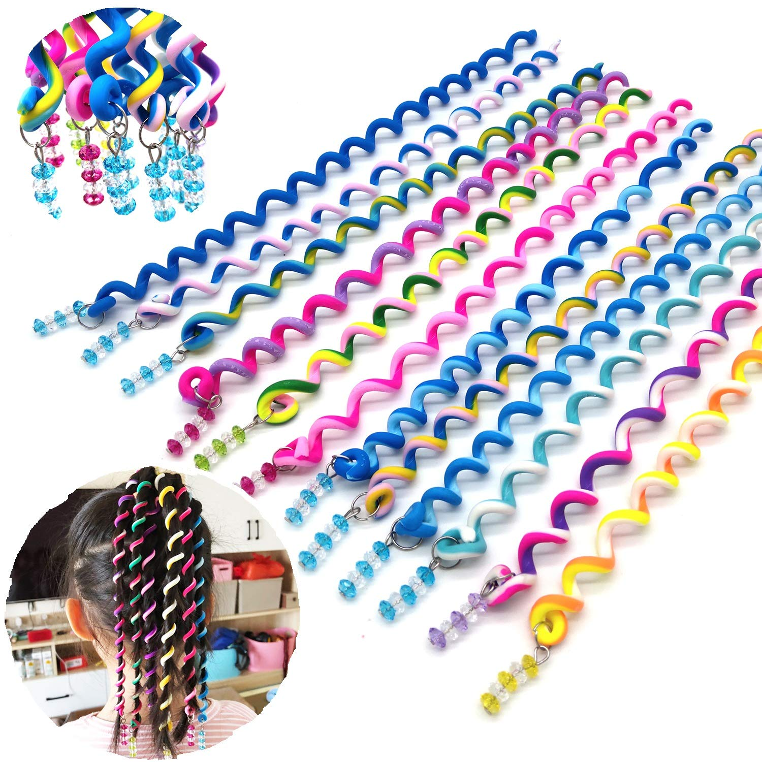 10* Girls Screw Hair Clip Metal Braider Styling Rotating Clips Hair Accessories