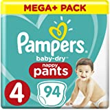 Pampers - Baby Dry nappy Pants - Couches-culottes Taille 4 (9-15 kg) - Mega+ Pack (x94 culottes)