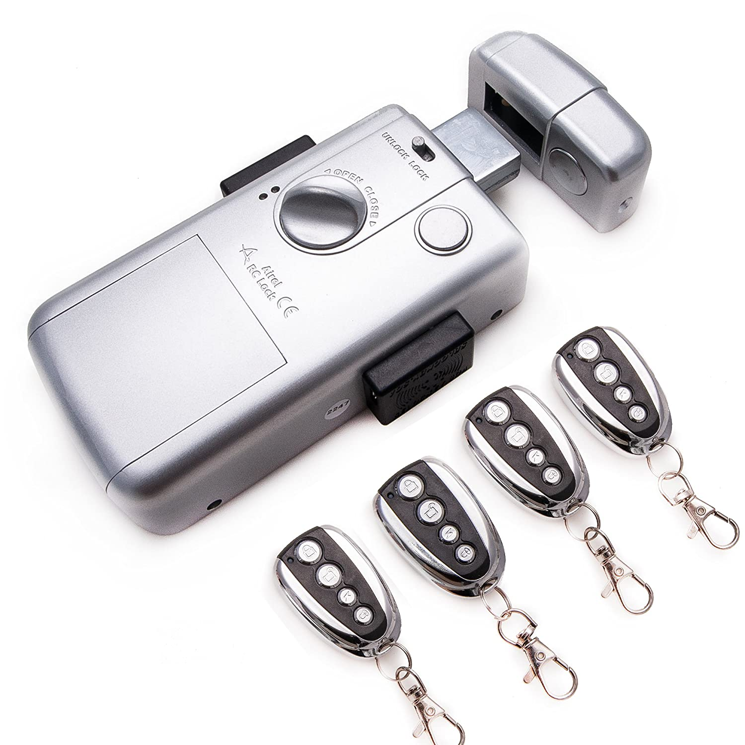Intelligent Electronic lock, maximum security and invisible, with 4 controls. Silver color. Manufactured by SELOCKEY. - - Amazon.com
