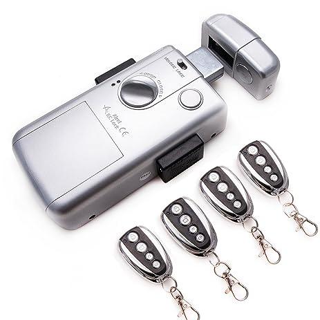 Electronic Intelligent Door Lock - 4 Remote Control.