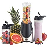 VonShef 300 Watt Stainless Steel Personal Sports Blender, Shake and Smoothie Maker - 2 x 20 Ounce Bottles and 2 x 14 Ounce Bottles