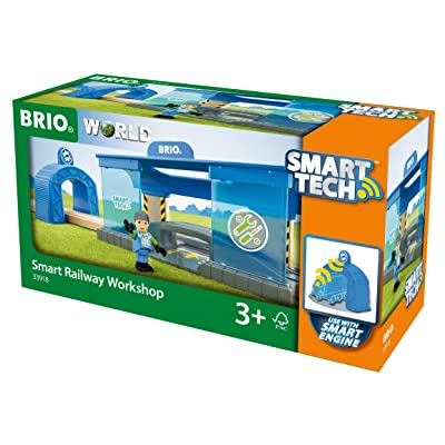BRIO World - 33918 Smart Railway Workshop | 3 Piece Toy Train Accessory for Kids Ages 3 and Up,Multi: Toys & Games