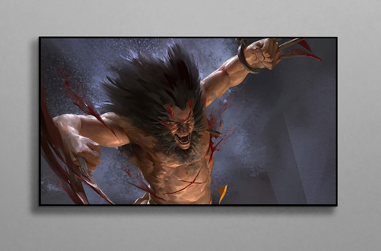 Wolverine Coming Claws Poster Print Canvas Poster Wall Decor Art Wall Art Print Gift Poster Unframed Printing Size - 11